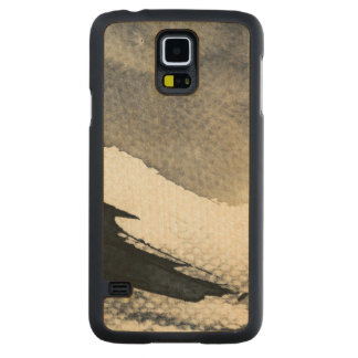 Abstract grunge background, ink texture. 4 carved maple galaxy s5 case