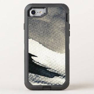 Abstract grunge background, ink texture. 4 OtterBox defender iPhone 8/7 case