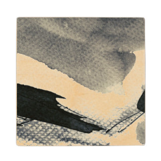 Abstract grunge background, ink texture. 4 wood coaster
