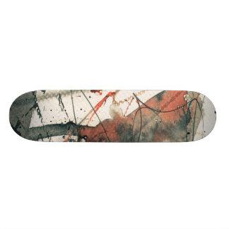 Abstract grunge background, ink texture. 5 20.6 cm skateboard deck