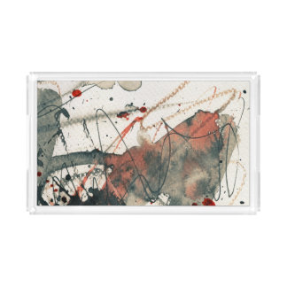 Abstract grunge background, ink texture. 5 acrylic tray