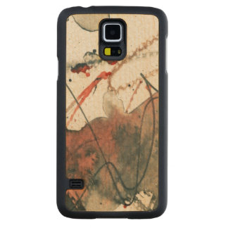 Abstract grunge background, ink texture. 5 carved maple galaxy s5 case