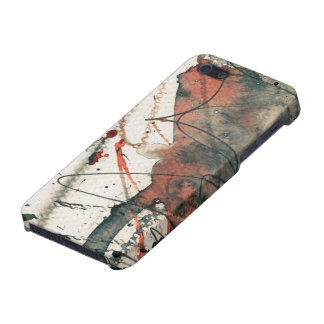 Abstract grunge background, ink texture. 5 iPhone 5/5S cases