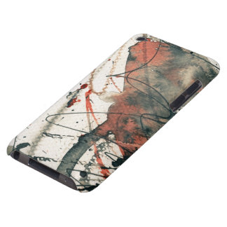 Abstract grunge background, ink texture. 5 iPod Case-Mate cases