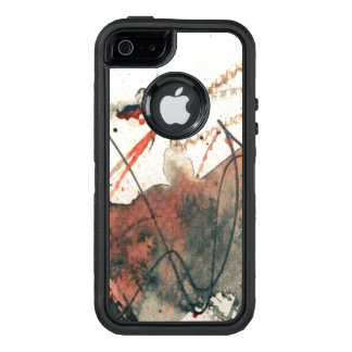 Abstract grunge background, ink texture. 5 OtterBox iPhone 5/5s/SE case