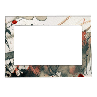 Abstract grunge background, ink texture. 5 photo frame magnet