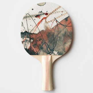 Abstract grunge background, ink texture. 5 ping pong paddle
