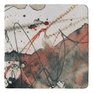 Abstract grunge background, ink texture. 5 trivet