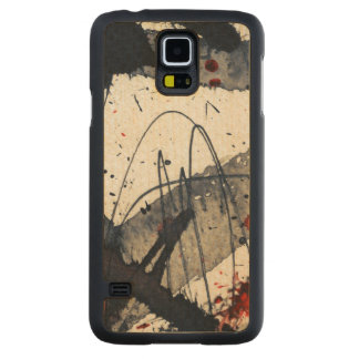 Abstract grunge background, ink texture. carved maple galaxy s5 case