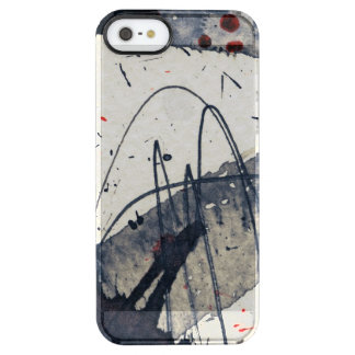 Abstract grunge background, ink texture. clear iPhone SE/5/5s case