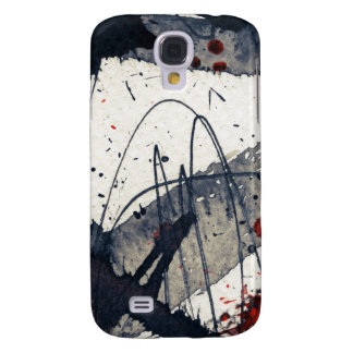 Abstract grunge background, ink texture. galaxy s4 case