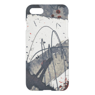 Abstract grunge background, ink texture. iPhone 8/7 case