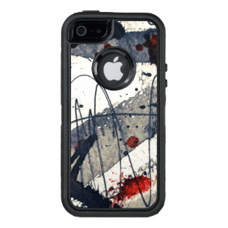 Abstract grunge background, ink texture. OtterBox iPhone 5/5s/SE case