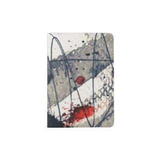 Abstract grunge background, ink texture. passport holder