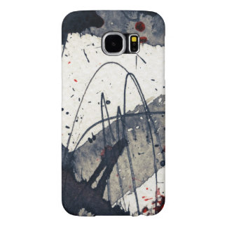 Abstract grunge background, ink texture. samsung galaxy s6 cases