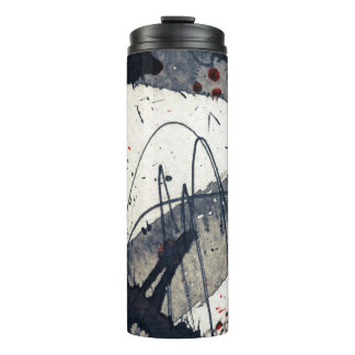 Abstract grunge background, ink texture. thermal tumbler