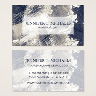 Abstract grunge background. Watercolor, ink Business Card