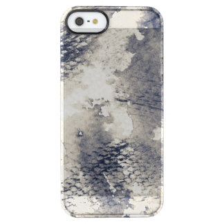 Abstract grunge background. Watercolor, ink Clear iPhone SE/5/5s Case