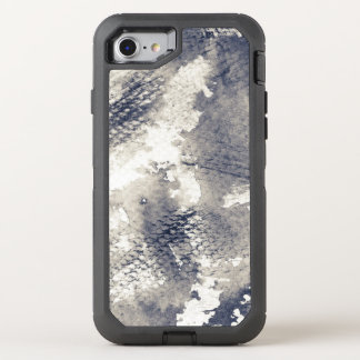Abstract grunge background. Watercolor, ink OtterBox Defender iPhone 8/7 Case