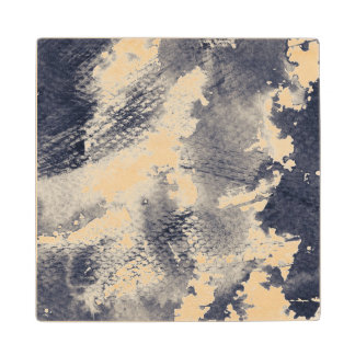 Abstract grunge background. Watercolor, ink Wood Coaster