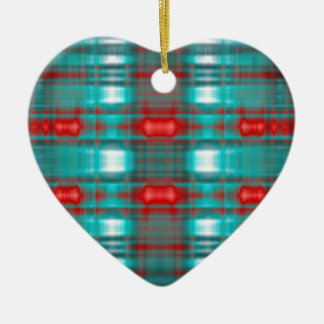 Abstract grunge blur pattern christmas ornament