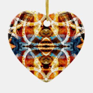 Abstract grunge graffiti pattern christmas ornament
