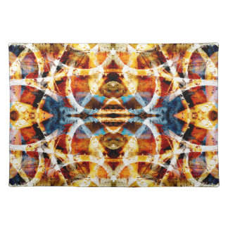 Abstract grunge graffiti pattern placemat