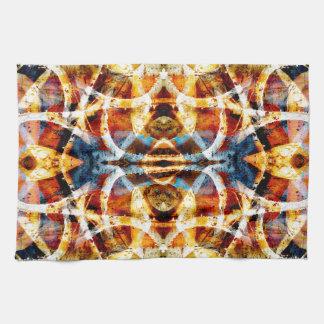 Abstract grunge graffiti pattern tea towel