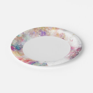 Abstract grunge texture with watercolor paint 2 7 inch paper plate