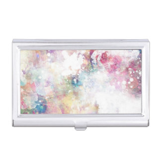 Abstract grunge texture with watercolor paint 2 case for business cards