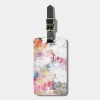 Abstract grunge texture with watercolor paint 2 luggage tag
