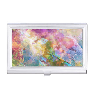 Abstract grunge texture with watercolor paint 3 business card holder
