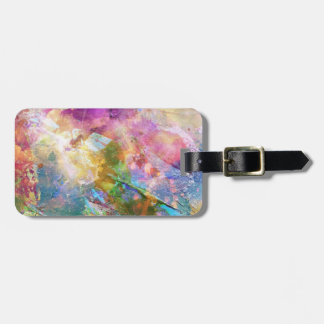 Abstract grunge texture with watercolor paint 3 luggage tag