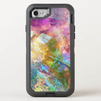 Abstract grunge texture with watercolor paint 3 OtterBox defender iPhone 7 case