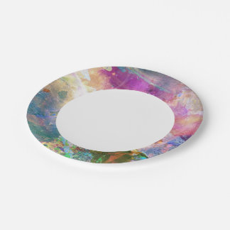 Abstract grunge texture with watercolor paint 3 paper plate