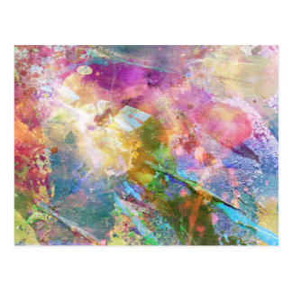 Abstract grunge texture with watercolor paint 3 postcard