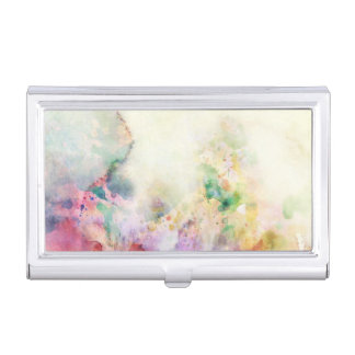 Abstract grunge texture with watercolor paint business card holder