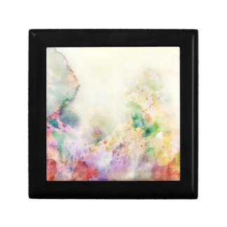 Abstract grunge texture with watercolor paint gift box