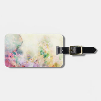 Abstract grunge texture with watercolor paint luggage tag