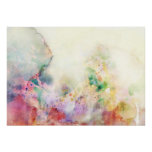 Abstract grunge texture with watercolor paint poster