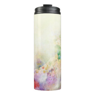 Abstract grunge texture with watercolor paint thermal tumbler