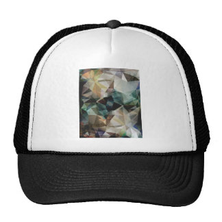 Abstract Grunge Triangles Mesh Hats