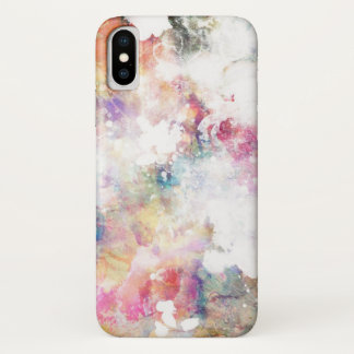 Abstract Grunge Watercolor Texture | Add Photo iPhone X Case