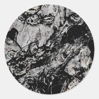 Abstract Grungy Design. Round Sticker