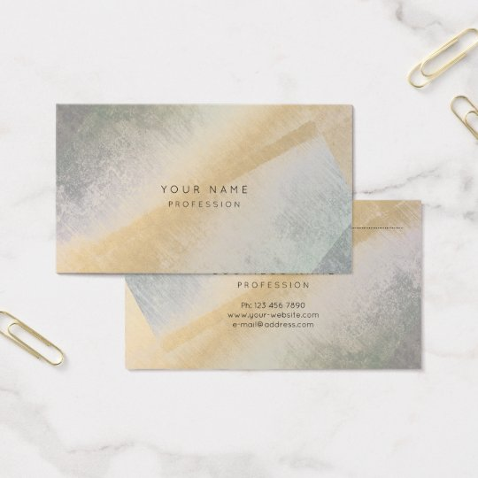Abstract Grungy Gray Gold Art Minimal Stylist Business