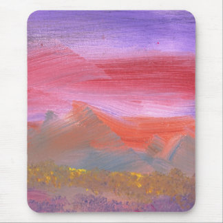Abstract - Guash - Lovely meadows 1 of 2 Mouse Pad