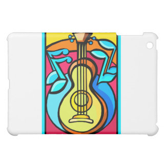 Abstract Guitar and Music Notes Graphic Design iPad Mini Covers