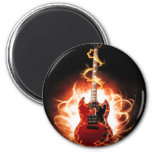Abstract Guitar Design 6 Cm Round Magnet