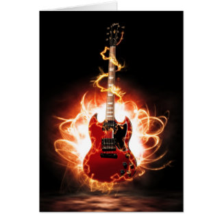 Abstract Guitar Design Greeting Card