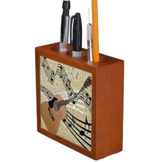 Abstract Guitar Desk Organizer Pencil/Pen Holder